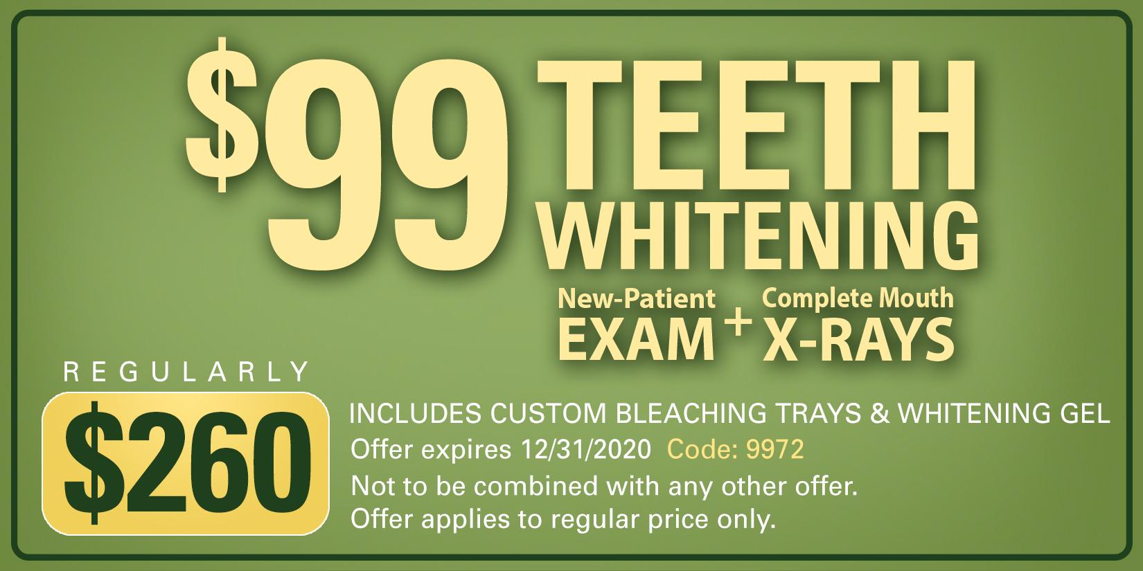 $99 teeth whitening